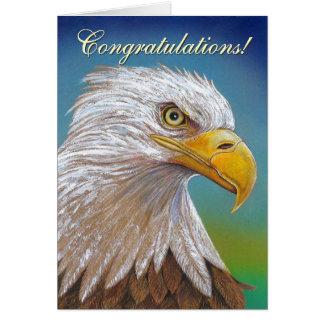 Félicitations d'Eagle Carte De Vœux