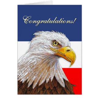Félicitations d'Eagle Cartes