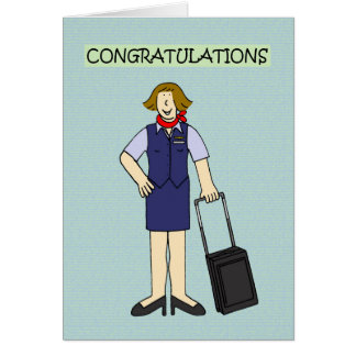 Félicitations d'équipage de cabine carte de vœux