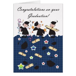 Félicitations d'obtention du diplôme carte de vœux