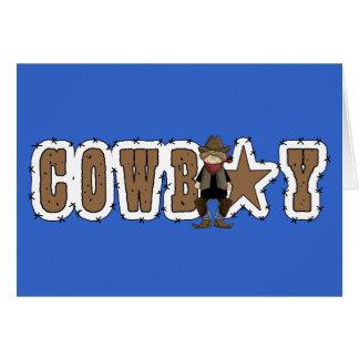 Félicitations d'obtention du diplôme de cowboy - carte de vœux