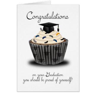 Félicitations d'obtention du diplôme de petit carte de vœux