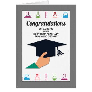 Félicitations d'obtention du diplôme d'école de cartes