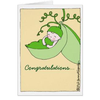 Félicitations douces sur le baby shower de carte de vœux