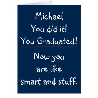 Félicitations drôles d'obtention du diplôme de cartes de vœux