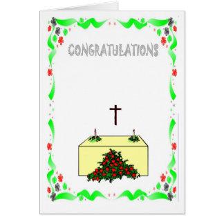 Félicitations, église carte de vœux