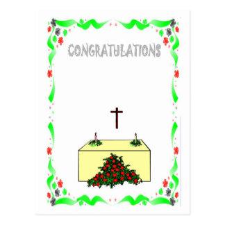 Félicitations - église carte postale