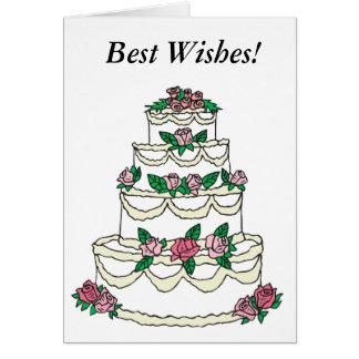 Félicitations épousant meilleurs voeux TOUS Carte De Vœux