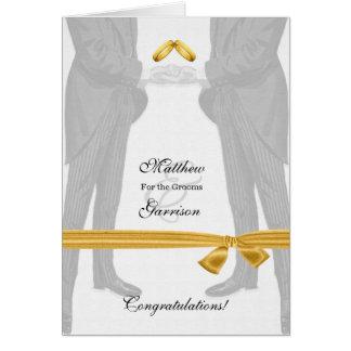 Félicitations gaies de mariage deux mariés vintage carte de vœux