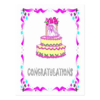 Félicitations - gâteau de mariage cartes postales