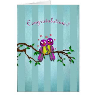 Félicitations ! - Inséparables Carte De Vœux