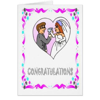 Félicitations, jeunes mariés carte de vœux