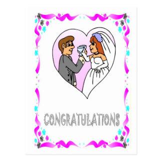 Félicitations - jeunes mariés cartes postales