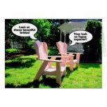 Félicitations lesbiennes de mariage, chaises roses cartes de vœux