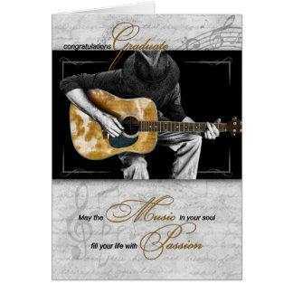 Félicitations licenciées de musique - guitariste cartes
