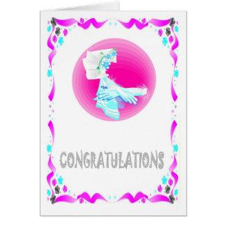 Félicitations mains carte de vœux