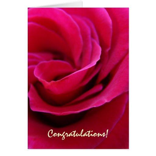 Félicitations ! Mariages roses de fleur de Pin de  Cartes De Vœux