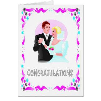 Félicitations, ménages mariés carte de vœux