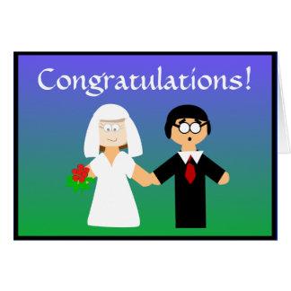 Félicitations… que je pense ! Carte de mariage