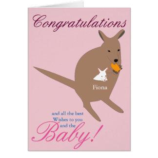 Félicitations sur la naissance de votre bébé carte de vœux