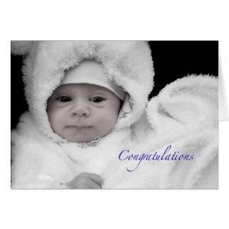 Félicitations sur la naissance d'un bébé carte de vœux