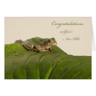 Félicitations sur la nouveau maison, appartement, carte de vœux