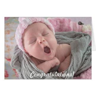 Félicitations sur la nouvelle carte de bébé