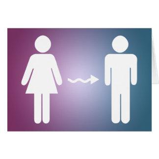 félicitations sur le changement de genre carte de vœux