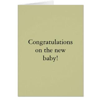 Félicitations sur le nouveau bébé ! carte de vœux