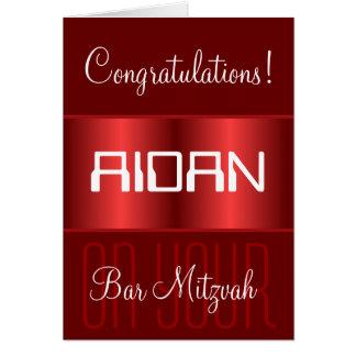 Félicitations sur votre barre Mitzvah Carte De Vœux