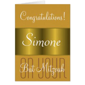 Félicitations sur votre bat mitzvah cartes