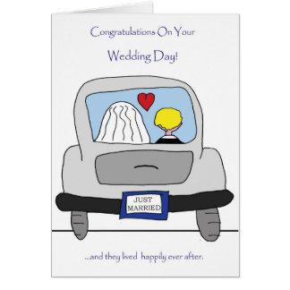 Félicitations sur votre carte de jour du mariage