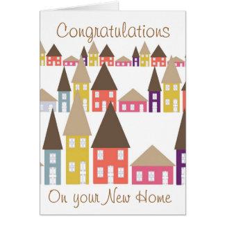 Félicitations sur votre nouvelle maison carte de vœux
