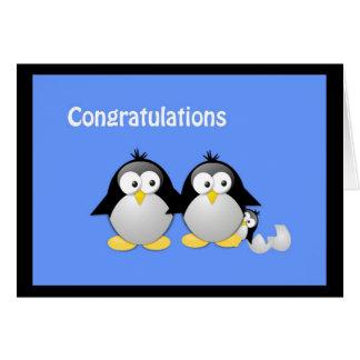 Félicitations sur votre nouvelle salutation de pin carte de vœux