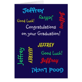 Félicitations sur votre obtention du diplôme, cartes de vœux