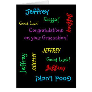 Félicitations sur votre obtention du diplôme, carte de vœux