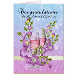 félicitations sur votre renouvellement de voeu carte de vœux