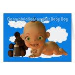 Félicitations un beau bébé carte de vœux
