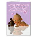 Félicitations un beau bébé Granddaughte Cartes De Vœux