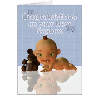 Félicitations une belle tante le tante de bébé carte de vœux