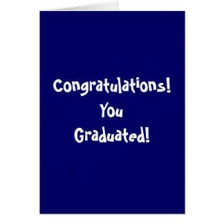 Félicitations ! YouGraduated ! Carte De Vœux