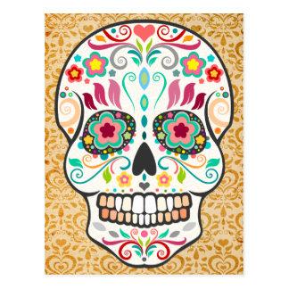 Feliz Muertos - carte postale heureuse de crâne de