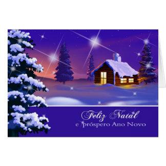 Feliz natal. Carte de Noël portugaise