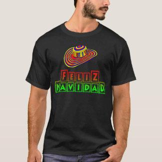 Feliz Navidad avec la chemise de Noël de sombrero T-shirt