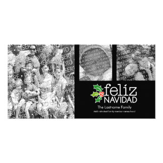 Feliz Navidad - collage de 3 photos Modèle Pour Photocarte