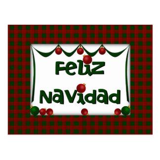 Feliz Navidad - Joyeux Noël - carte postale