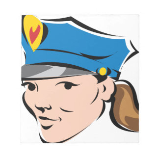 femelle-police-dirigeant blocs notes