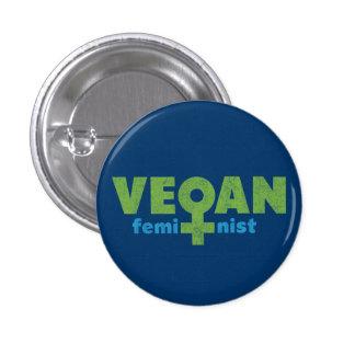 Féministe végétalien badge