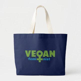 Féministe végétalien grand sac