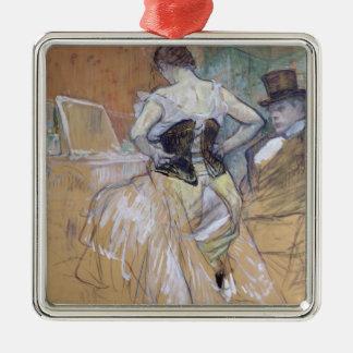 """Femme à sa toilette, étude pour """"Elles"""", c.1896 Ornement Carré Argenté"""